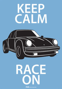 Keep Calm Race On Sign