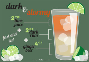 dark and stormy drink recipe sign