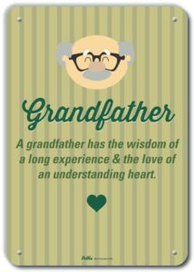 Grandfather Sign Green