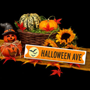 Halloween Ave Sign