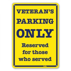 Veteran's Parking Only Reserved For Those Who Served